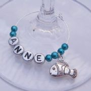 Clown Fish Personalised Wine Glass Charm